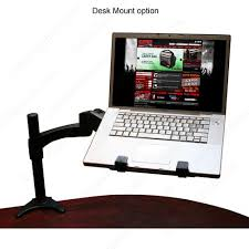 articulating monitor desk mount gator cases articulating laptop tablet and vesa monitor desk wall