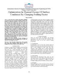effect of fouling factor heat exchanger heat transfer