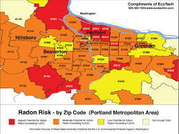 Portland Neighborhoods Map by Portland Oregon Radon Map 2013 Real Estate Agent Pdx