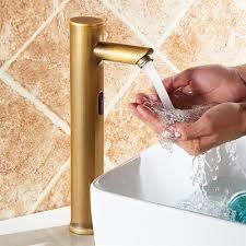 gold plated sensor kitchen faucet