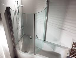 P Shaped Shower Bath
