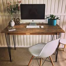 Computer Desk With Wheels Furniture Wood Office Desks Computer Desk Wheels Pallet Desk