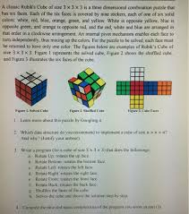 Puzzle Len Solved A Rubik S Cube Of Size 3 Times 3 Times 3 I