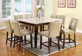 High End Dining Room Chairs Furniture Counter Height Table Sets For Elegant Dining Table