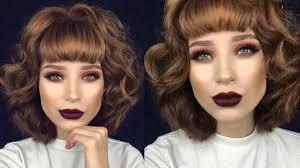 cyn santana burgundy hair vy date night valentines hair makeup tutorial lupe sujey