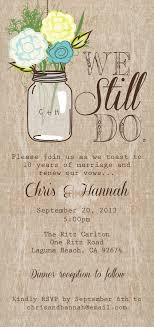 vow renewal invitations jar printable invitation rustic invitation we still do