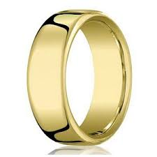 benchmark 10k yellow gold wedding band for men with heavy fit