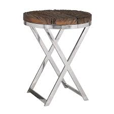 round wood and metal side table metal round side table gondolasurvey