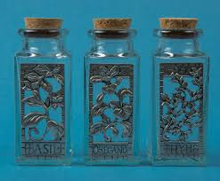 seagull pewter spice jars recycled glass hand made in spain