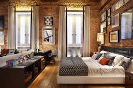 modern attic bedroom ideas with couple bed orangearts minimalist