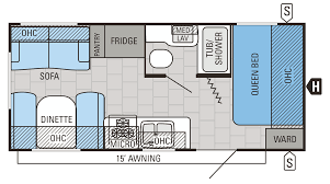 another one of our favorite travel trailer floor plans double