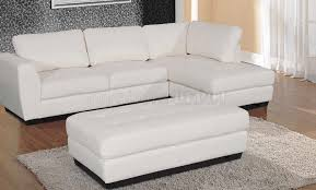Modern White Bonded Leather Sectional Sofa Modern White Sectional Sofas Best Sectional Sofa And Design White