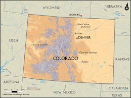 colorado physical map detailed clear large road map of colorado and colorado road maps