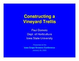Trellis Construction Vineyard Trellis Construction Prairie Fire Winery