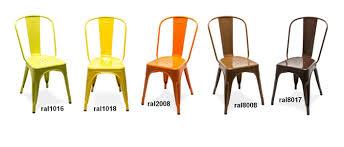 chaise m tallique chaise a tolix jaune chaise design tolix