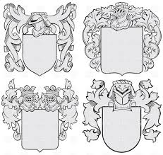 coats of arms heraldic templates with helmet and shield