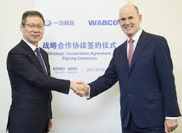 jiefang wabco signs to partner in china with faw jiefang automotive