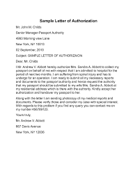 Authorization Letter Representative Sample Authorization Letter Bank Collect Documents Sample Authorization
