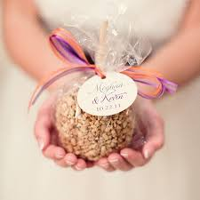 chagne wedding favors candy apples favors change tag to baby shower we could get