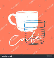 coffee cup silhouette png doodle mug silhouette paper cup line stock vector 644355598