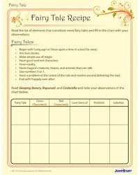 fairy tale recipe free fairy tale writing worksheet for 2nd