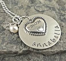 mothers day jewelry personalized heart necklace personalized sted mothers day gift