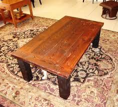 wood plank coffee table reclaimed wood plank coffee table