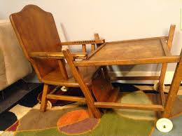 Antique Wood High Chair 1950 U0027s Thayer Tops For Tots High Chair Convertible Desk By Hueisit