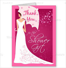 gift card bridal shower 17 bridal shower thank you cards free printable psd eps format