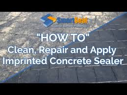 How To Clean Colored Concrete Patio How To Clean Repair Re Colour And Apply Sealer To Patterned