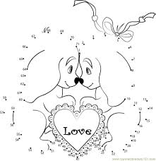 dot coloring pages get this printable valentine dot to dot coloring pages ek1hu