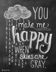 Kitchen Chalkboard Ideas You Make Me Happy Rain Cloud Print Chalkboard Quotes