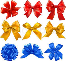 set of colorful gift bows with ribbons vector stock vector