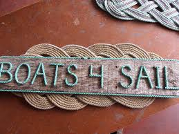 boats 4 sail nautical sign letters pallet wood with green