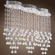joshua marshal 700096 9 light chrome pendant with crystals from