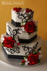 black and white and red wedding cakes black and white wedding