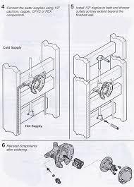 Shower Faucet Height Installation Installing A K 304 Kohler Rite Temp Bath U0026 Shower Valve Terry