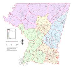 Virginia House Of Delegates District Map by County Council District Maps Seventh State