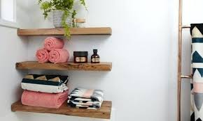 Wooden Shelves For Bathroom Wood Bathroom Shelf Northlight Co
