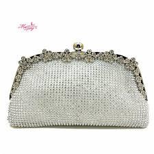 wedding bags dumplings shape clutch bag evening bag bling handbag gems