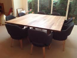 square dining room table for 8 home design 8 person square dining table round room and chairs