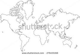 outline of world map white outline world map vector free vector stock
