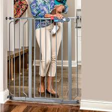 Large Pressure Mounted Baby Gate Amazon Com Regalo Deluxe Easy Step Extra Tall Gate Platinum Baby
