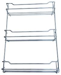 Wall Mount Spice Rack With Jars Behind The Door Wall Mount Steel Spice Rack Contemporary Spice