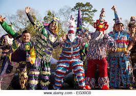 cajun mardi gras costumes wearing traditional cajun mardi gras costume and mask runners