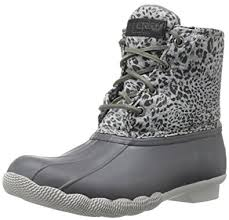 womens duck boots for sale amazon com sperry top sider s saltwater prints boot