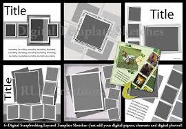 lifted layers digital scrapbooking psd layered templates u2014 rlr