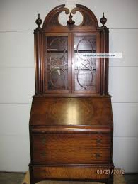 furniture best antique drop down secretary desk with hutch plan