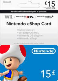 nintendo gift card uk nintendo 15 pound eshop gift card punktid