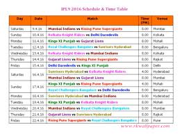 2016 ipl match list ipl 2016 t20 match schedule time table girls wallpapers